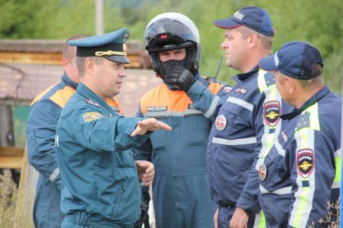 Мотогруппы ГУ МЧС и ДПС УМВД по Курской области провели учения
